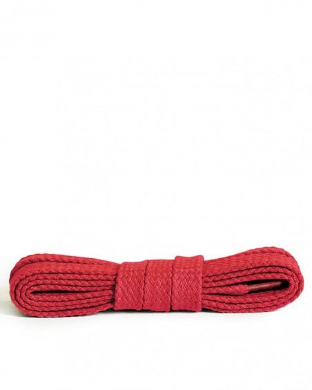 Czerwone, płaskie, bawełniane sznurówki do butów, 150 cm, Kaps