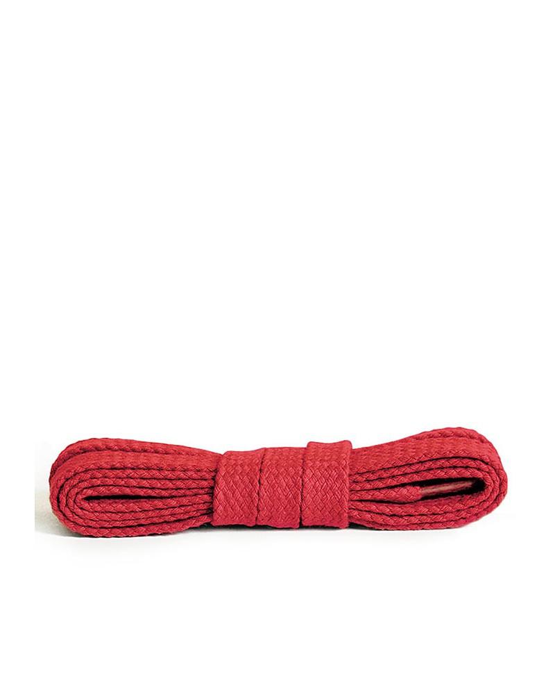 Czerwone, płaskie, bawełniane sznurówki do butów, 120 cm, Kaps