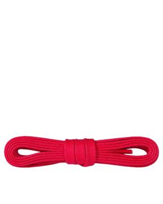 Czerwone, płaskie, woskowane sznurówki do butów, 90 cm, Kaps