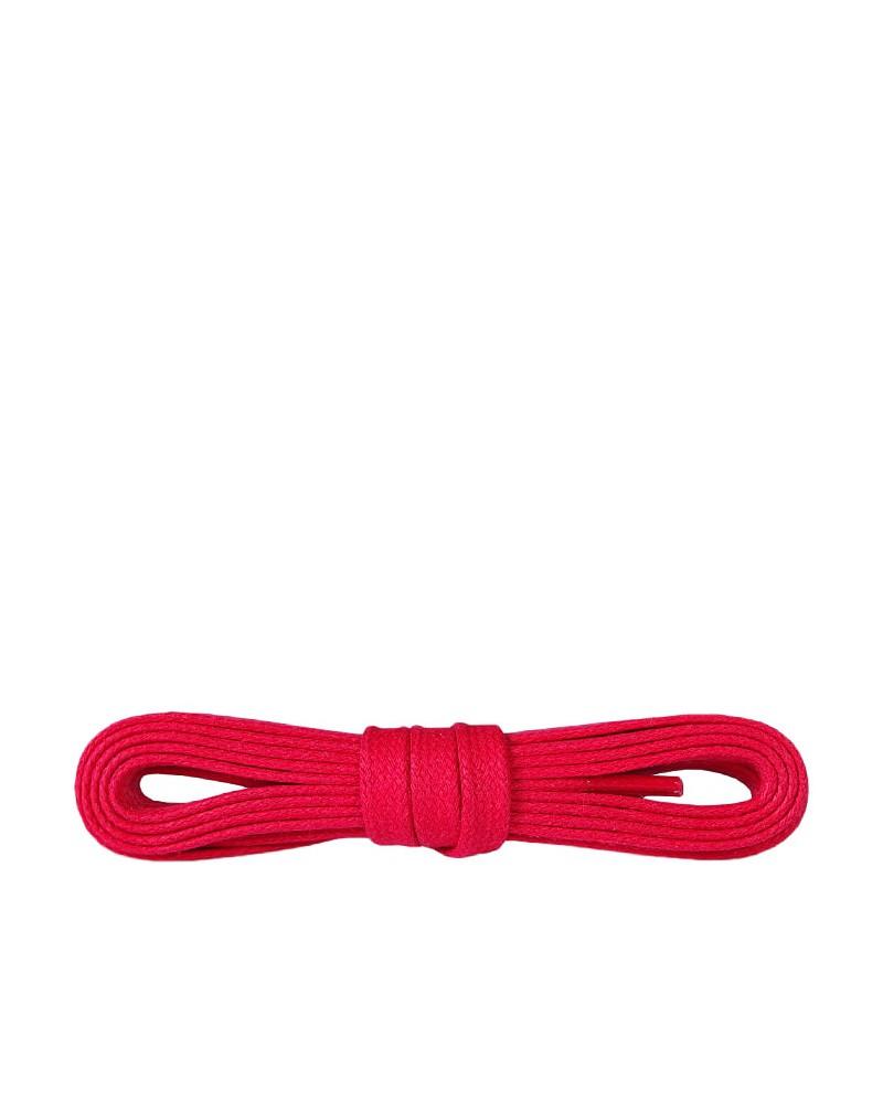 Czerwone, płaskie, woskowane sznurówki do butów, 120 cm, Kaps