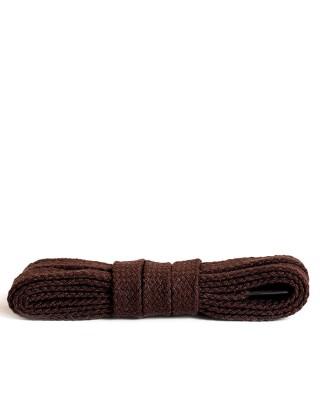 Ciemnobrązowe, płaskie, bawełniane sznurówki do butów, 60 cm, Kaps