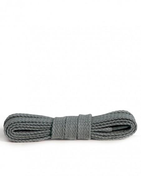 Szare, ciemnopopielate sznurówki do butów, płaskie, 100 cm, Kaps