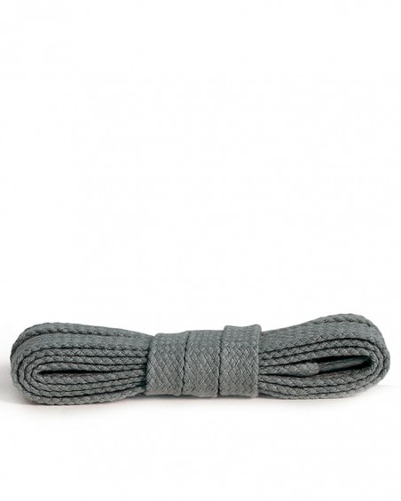 Szare, ciemnopopielate, płaskie, bawełniane sznurówki do butów, 75 cm, Kaps