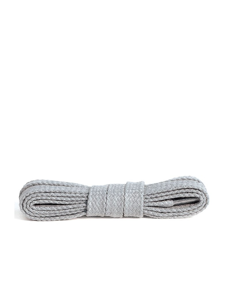 Jasnopopielate, bawełniane sznurówki do butów, płaskie, 75 cm, Kaps