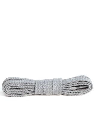 Jasnopopielate, bawełniane sznurówki do butów, płaskie, 120 cm, Kaps