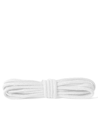 Białe, okrągłe cienkie, sznurówki do butów, 75 cm, Kaps