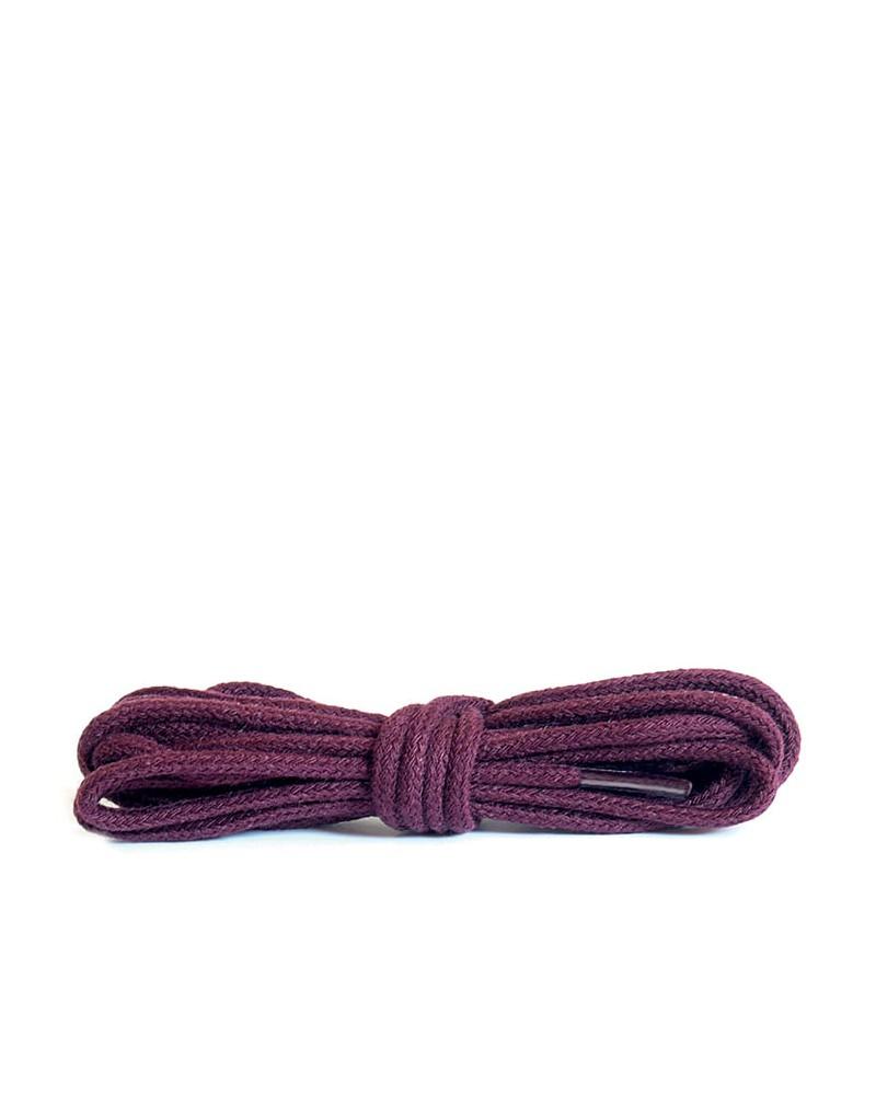 Bordowe, okrągłe cienkie, sznurówki do butów, 90 cm, Kaps