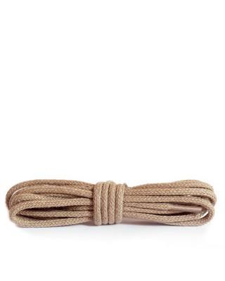 Beżowe, okrągłe cienkie, sznurówki do butów, 45 cm, Kaps