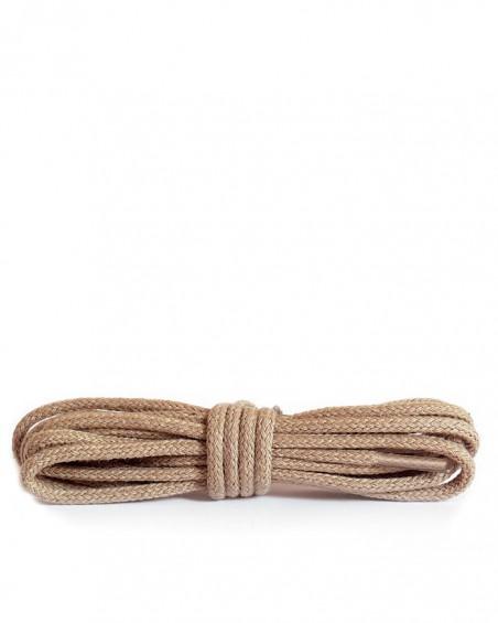 Beżowe, okrągłe cienkie, sznurówki do butów, 120 cm, Kaps
