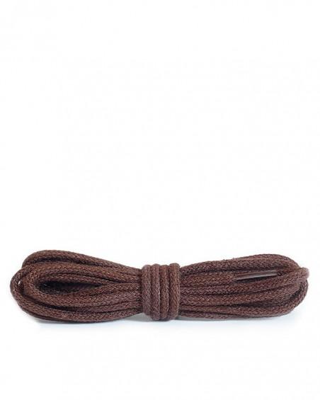 Brązowe, okrągłe cienkie, sznurówki do butów, 90 cm, Kaps