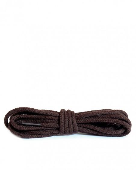 Ciemnobrązowe, okrągłe cienkie, sznurówki do butów, 120 cm, Kaps