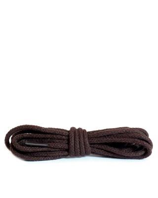 Ciemnobrązowe, okrągłe cienkie, sznurówki do butów, 150 cm, Kaps