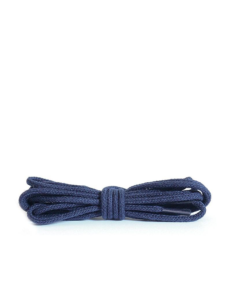 Granatowe, okrągłe cienkie, sznurówki do butów, 120 cm, Kaps