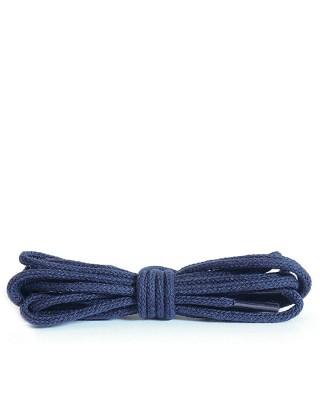 Granatowe, okrągłe cienkie, sznurówki do butów, 45 cm, Kaps