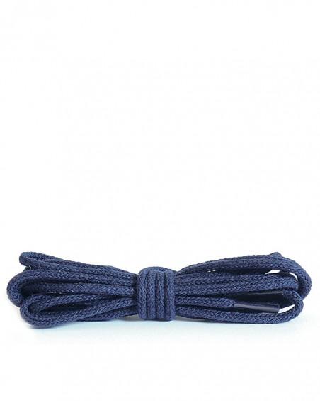 Granatowe, okrągłe cienkie, sznurówki do butów, 90 cm, Kaps