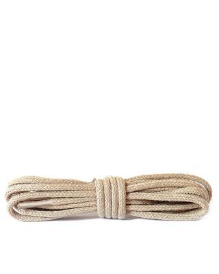 Jasnobeżowe, okrągłe cienkie, sznurówki do butów, 90 cm, Kaps