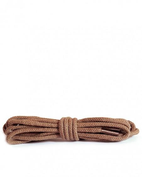Okrągłe cienkie, sznurówki do butów, 90 cm, Kaps, koniak