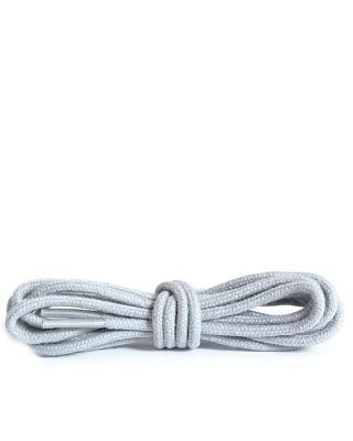 Szare, jasny popiel, okrągłe cienkie sznurówki do butów, 75 cm, Kaps
