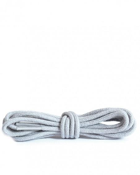 Szare, jasnoszare okrągłe cienkie, sznurówki do butów, 100 cm, Kaps