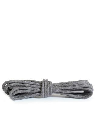 Szare, ciemny popiel, okrągłe cienkie, sznurówki do butów, 75 cm, Kaps