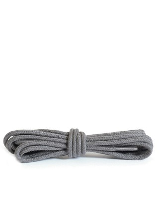 Szare, ciemny popiel okrągłe cienkie, sznurówki do butów, 100 cm, Kaps