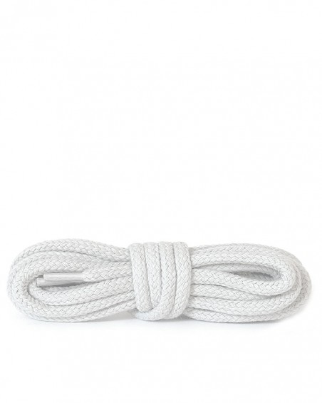 Białe, okrągłe grube, sznurówki do butów,180 cm, Kaps