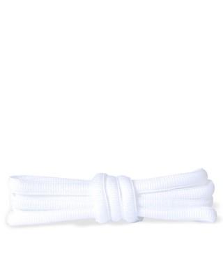 Białe, poliestrowe, sznurówki do butów sportowych, 90 cm, Kaps