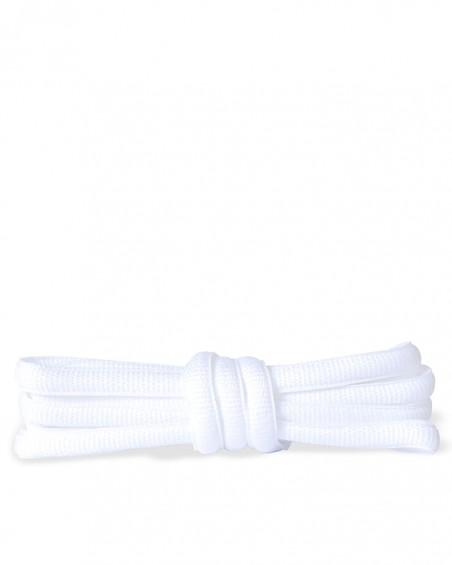 Białe, poliestrowe, sznurówki do butów sportowych, 120 cm, Kaps