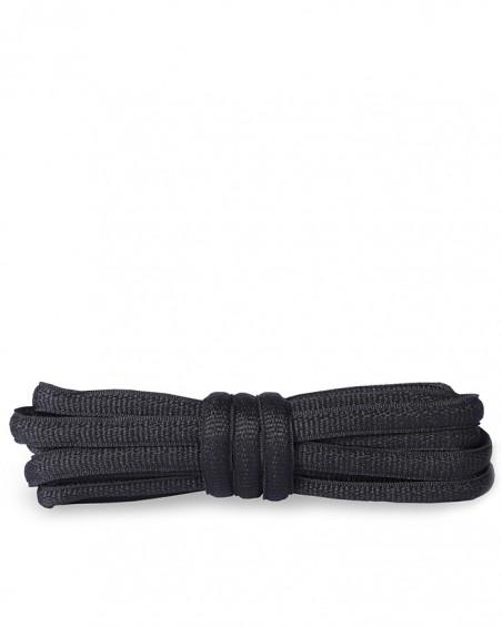 Czarne, poliestrowe, sznurówki do butów sportowych, 90 cm, Kaps