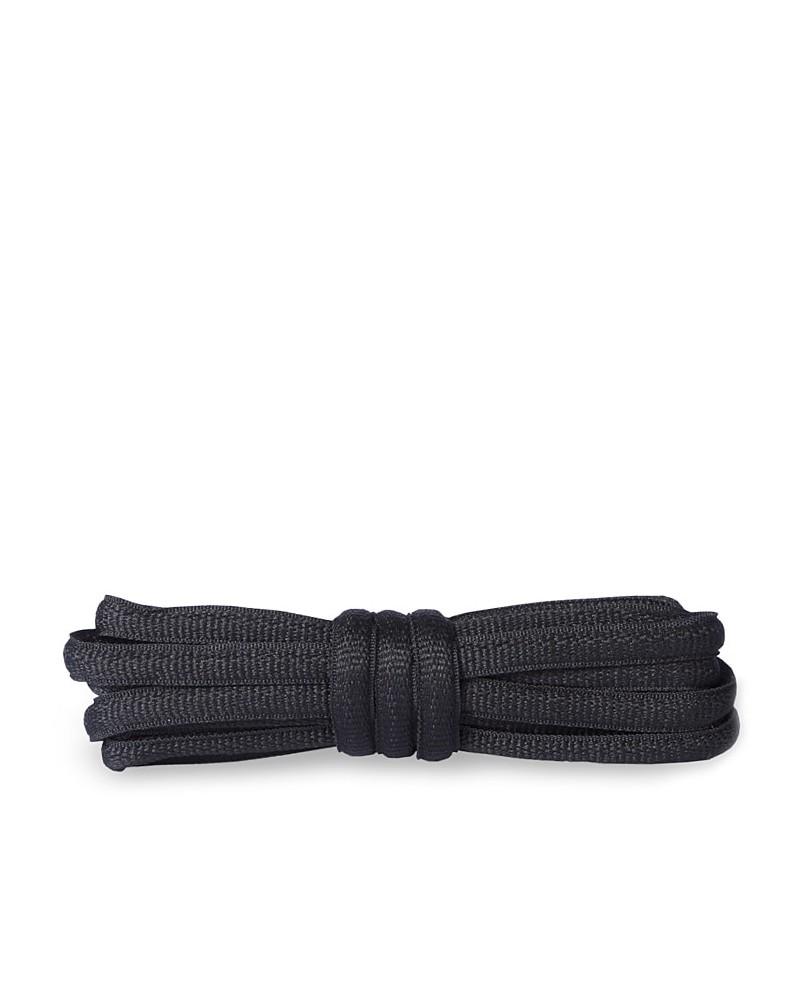 Czarne, poliestrowe, sznurówki do butów sportowych, 120 cm, Kaps