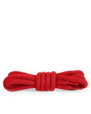 Czerwone, okrągłe grube, sznurówki do butów, 120 cm, Kaps