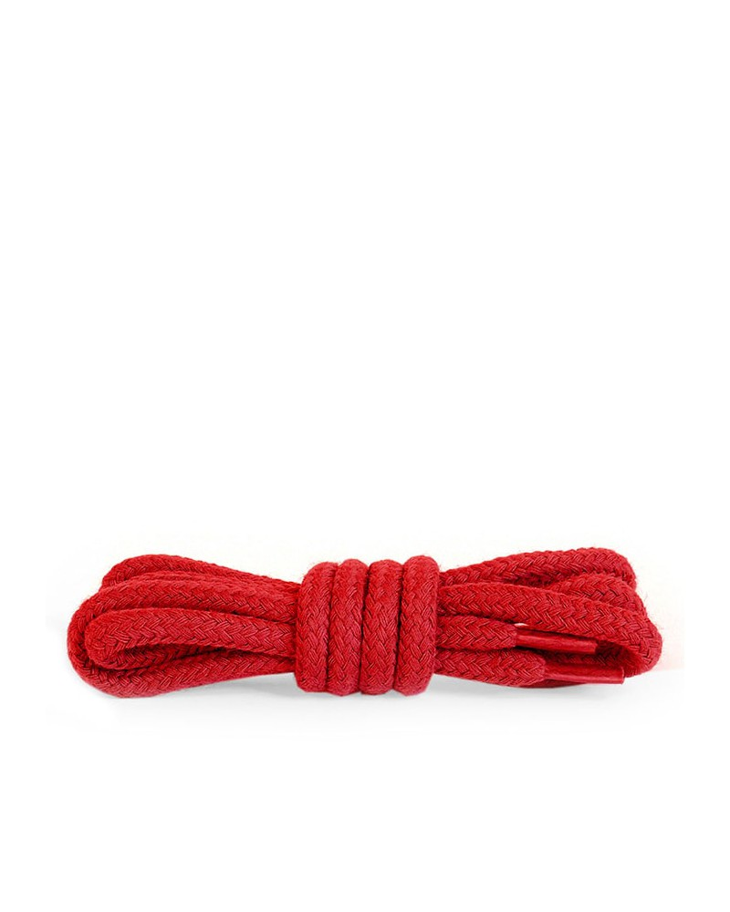 Czerwone, okrągłe grube, sznurówki do butów, 180 cm, Kaps