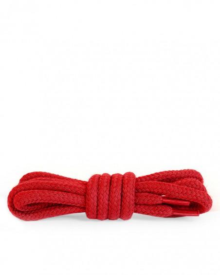 Czerwone, okrągłe grube, sznurówki do butów, 150 cm, Kaps