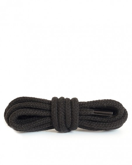 Czarne, okrągłe grube, sznurówki do butów, 100 cm, Kaps
