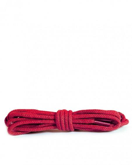 Czerwone, okrągłe cienkie, sznurówki do butów, 60 cm, Kaps