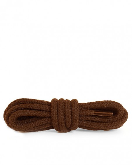 Brązowe, okrągłe grube, sznurówki do butów, 100 cm, Kaps