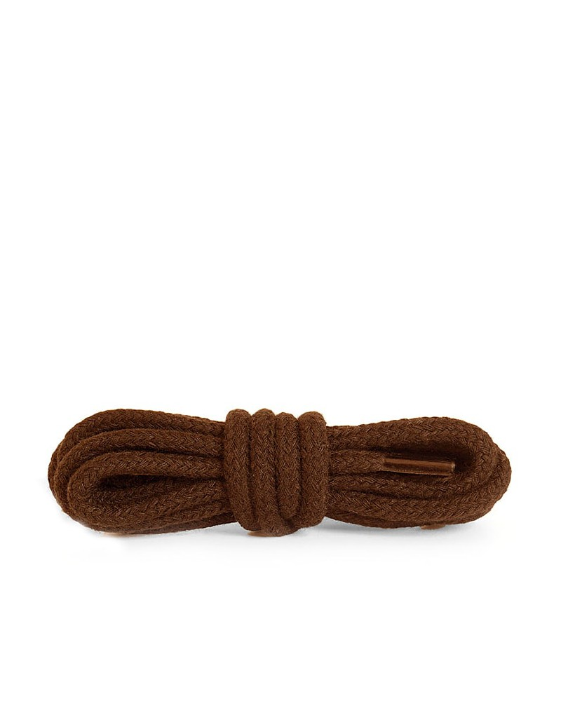 Brązowe, okrągłe grube, sznurówki do butów, 150 cm, Kaps