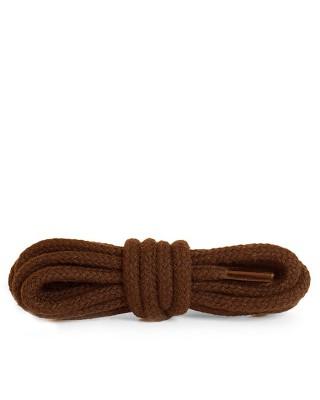 Brązowe, okrągłe grube, sznurówki do butów, 180 cm, Kaps