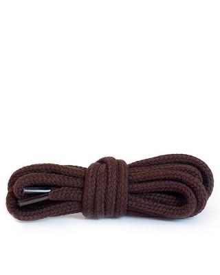 Ciemnobrązowe, okrągłe grube, sznurówki do butów, 120 cm, Kaps