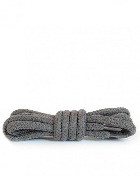 Ciemnopopielate, okrągłe grube, sznurówki do butów, 90 cm, Kaps