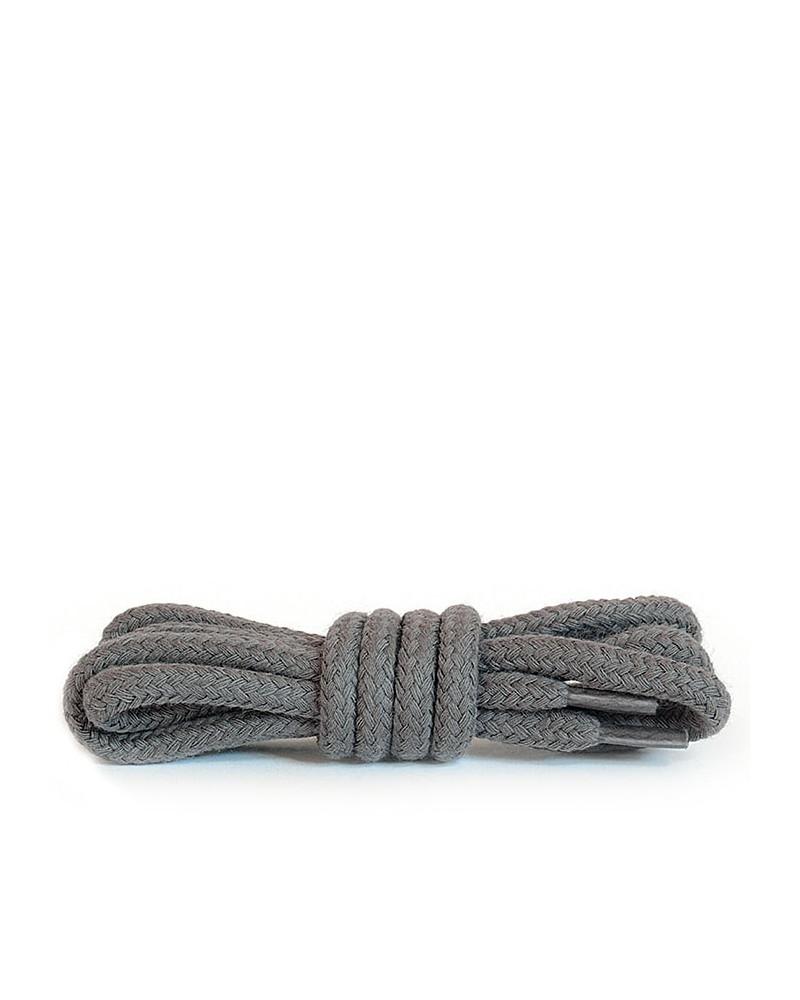 Ciemnopopielate, okrągłe grube, sznurówki do butów, 120 cm, Kaps