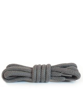 Ciemnopopielate, okrągłe grube, sznurówki do butów, 100 cm, Kaps
