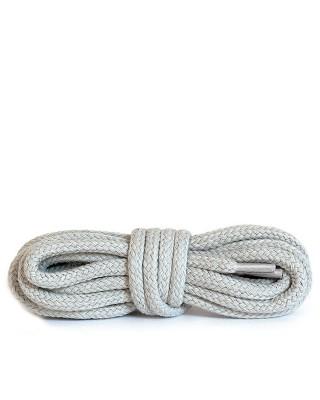 Jasnoszare, okrągłe grube, sznurówki do butów, 90 cm, Kaps