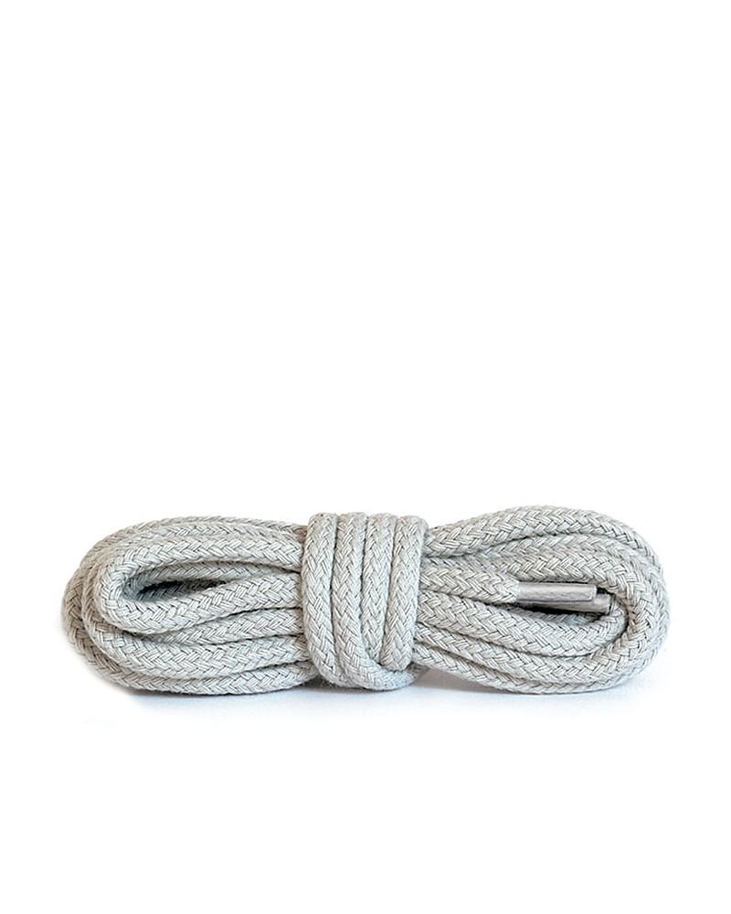 Jasnoszare, okrągłe grube, sznurówki do butów, 100 cm, Kaps
