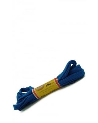 Niebieskie sznurówki do butów płaskie 100 cm Mazbit
