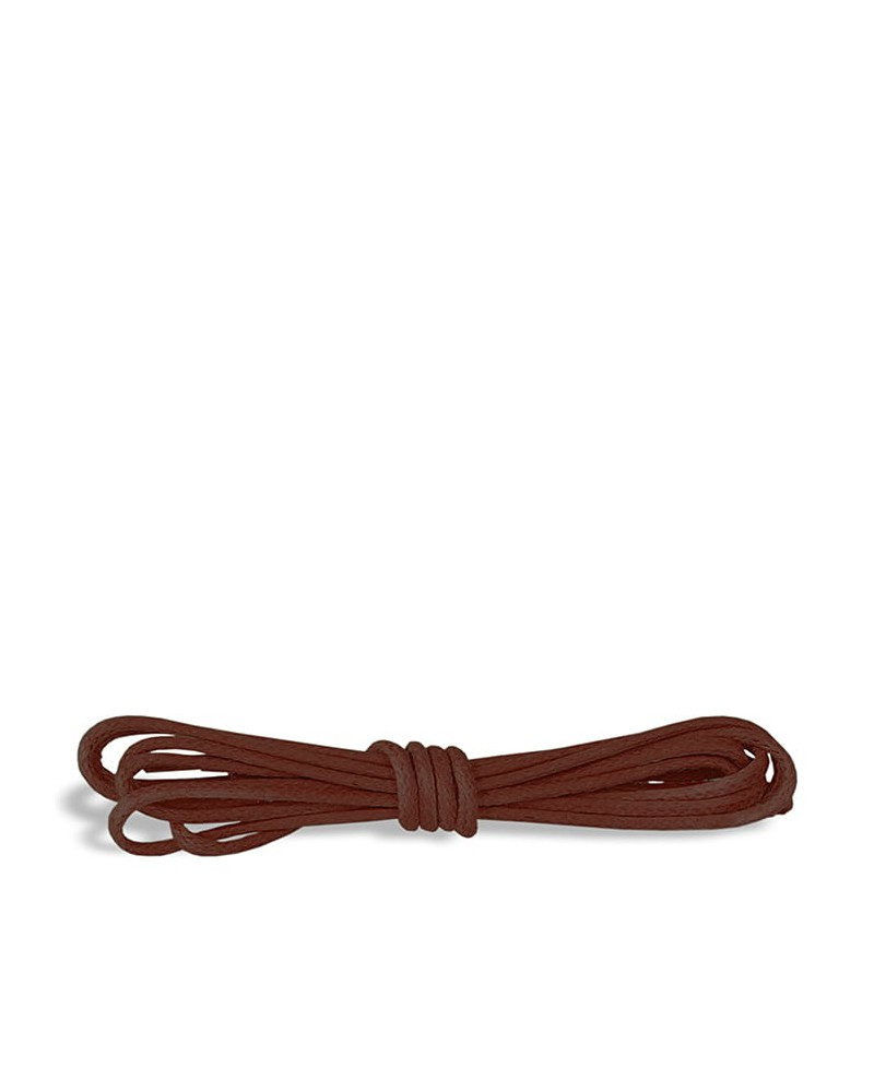 Brązowe, okrągłe cienkie, woskowane sznurówki do butów, 75 cm, Kaps