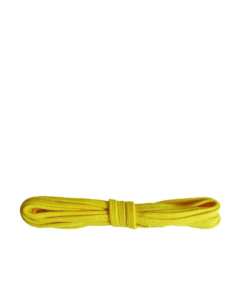 Żółte, płaskie, bawełniane sznurówki do butów, 90 cm
