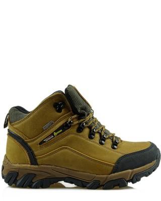Żółte skórzane buty trekkingowe TF201303001