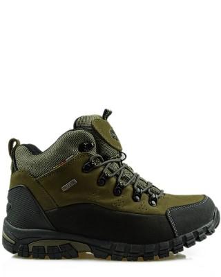 Buty trekkingowe oliwka skórzane TF201303004