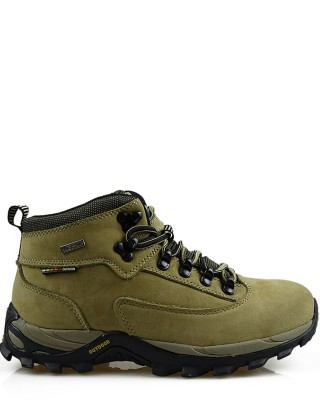 Buty trekkingowe damskie beżowe skórzane TF20130305